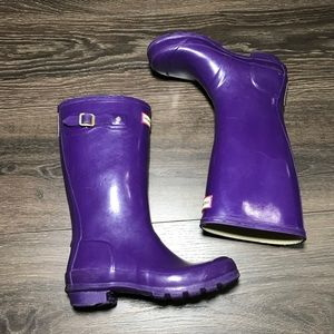 Hunter kids tall boots size 4